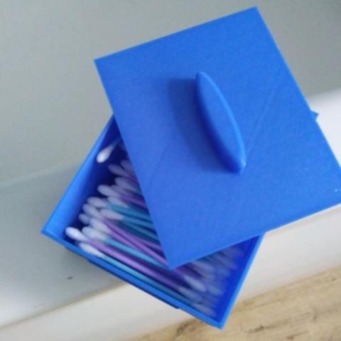 Télécharger fichier STL gratuit boîte pour coton-tiges ou tout ce que vous voulez • Modèle imprimable en 3D, mariospeed