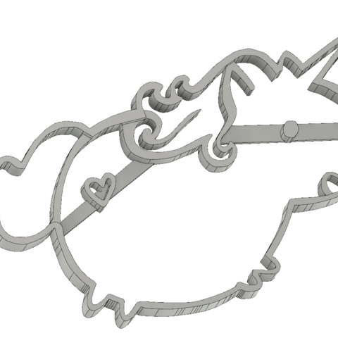 screenshot_20190213_182535.png Download STL file  8 X UNICORN COOKIE CUTTER • Object to 3D print, mariospeed