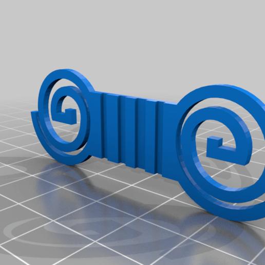 maskclip.png Download free STL file surgical mask strap • Model to 3D print, mariospeed
