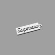 Download free 3D printing designs Supreme Key Chain, HaruNineOne