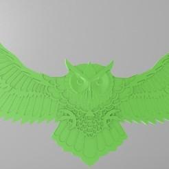 Descargar modelo 3D gratis lechuza, Kram12