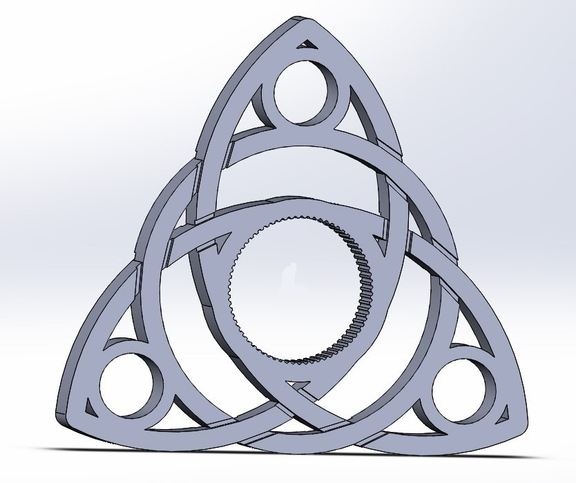 spinner_v3_1.JPG Download free STL file Celtic Triquetra Spinner • 3D printer object, Kram12
