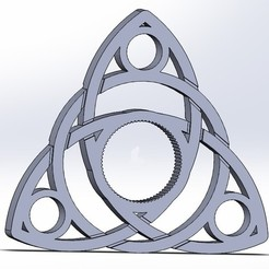 Free 3D printer files Celtic Triquetra Spinner, Kram12