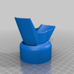 Vat_funel_drainer.png Download free STL file Vat funel drainer Siraya fast and elegoo bottle • 3D printer model, Jhonspikeder