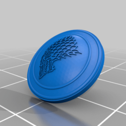 Download 3D printing designs Shield wolf star game of thrones, Jhonspikeder