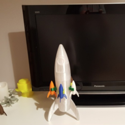 Free 3D printer model Mega rocket, NusNus