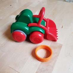 Download free 3D printer designs Flexi Toys tractor wheel, NusNus