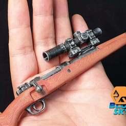 Descargar Modelos 3D para imprimir gratis 8x Alcance para rifle de francotirador, BlueSky