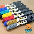 Download free 3D printing models Paint Marker Stand, BlueSky
