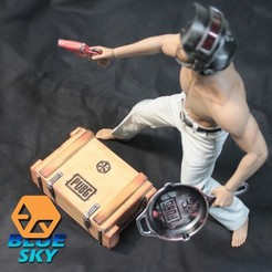 Download free STL PUBG Loot Crate, BlueSky