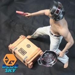Descargar diseños 3D gratis PUBG caja de botín, BlueSky