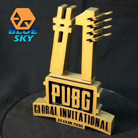 Free 3D printer model PUBG GLOBAL INVITATIONAL 2018 Symbol, BlueSky
