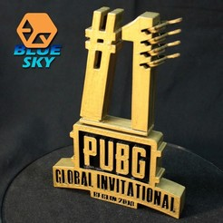 Download free 3D print files PUBG GLOBAL INVITATIONAL 2018 Symbol, BlueSky