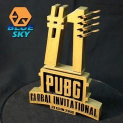 Descargar archivos 3D gratis INVITACIÓN GLOBAL PUBG 2018 Símbolo, BlueSky