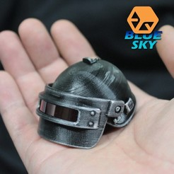 Download free 3D printer designs PUBG Spetsnaz Helmet, BlueSky