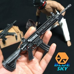 Download free STL PUBG M416 (HK416), BlueSky