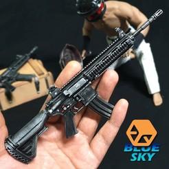 Télécharger objet 3D gratuit PUBG M416 (HK416), BlueSky