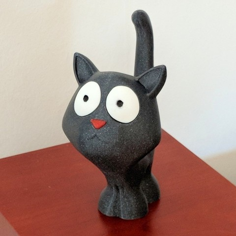 Free 3D printer model Tiffany the Cat, mattias_selin