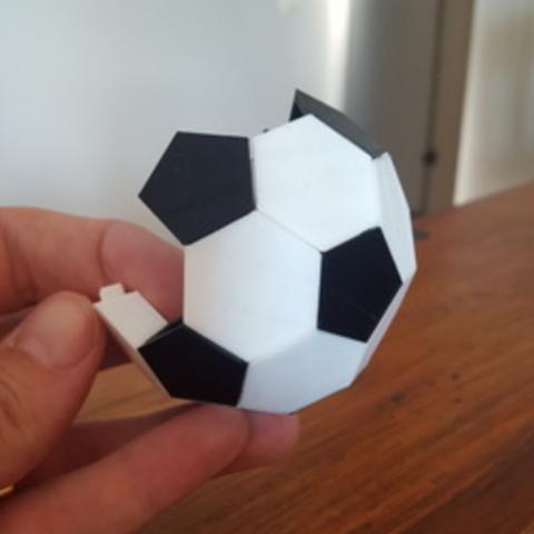 Capture d'écran 2018-07-26 à 14.35.07.png Download free STL file Soccer ball (Truncated icosahedron) assembly • 3D printer object, mattias_selin