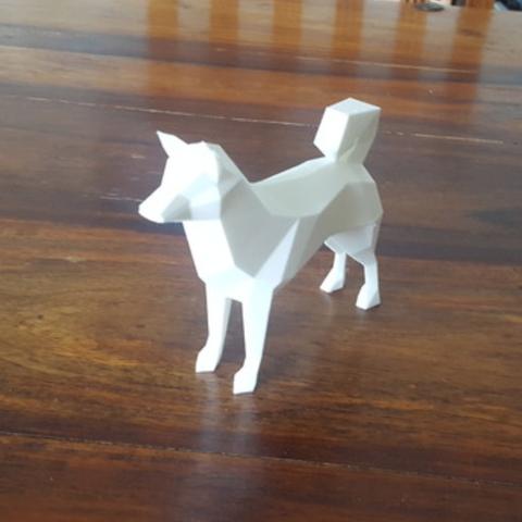 Download free 3D printer templates Low Poly Doge, mattias_selin