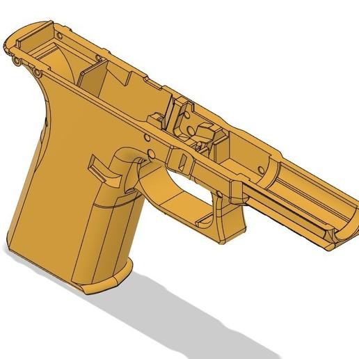 plain isometric VG17.jpg Télécharger fichier STL gratuit Glock 17 g17 • Design à imprimer en 3D, idy26