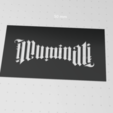 Download free 3D model Illuminati stencil, idy26
