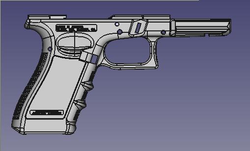 render1.png Télécharger fichier STL gratuit Glock 17 g17 • Design à imprimer en 3D, idy26
