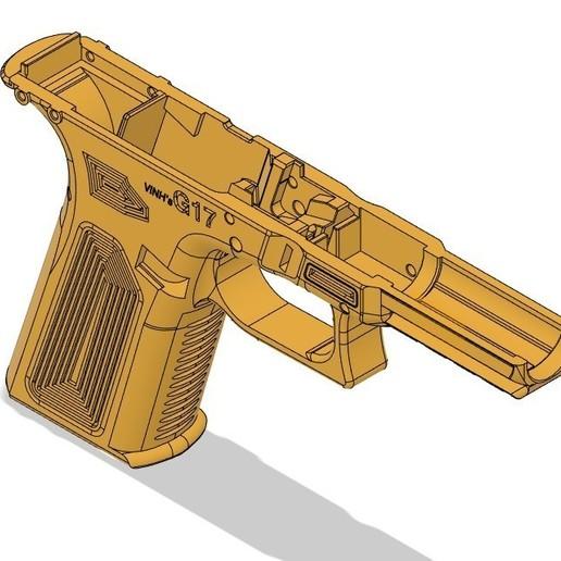 isometric VG17.jpg Télécharger fichier STL gratuit Glock 17 g17 • Design à imprimer en 3D, idy26