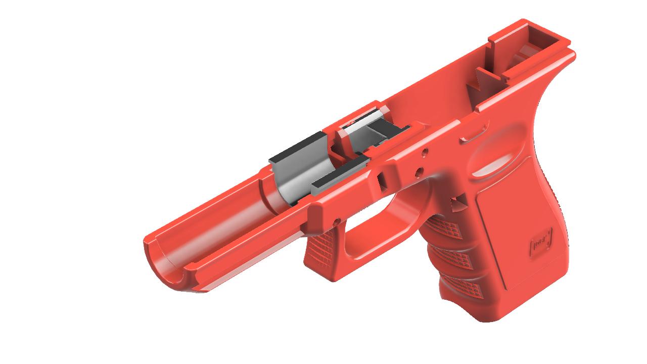 1-G17_1.png Télécharger fichier STL gratuit Glock 17 g17 • Design à imprimer en 3D, idy26