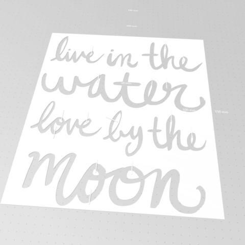 Télécharger modèle 3D gratuit vivre dans l'eau l'amour de la lune par le pochoir de la lune, idy26