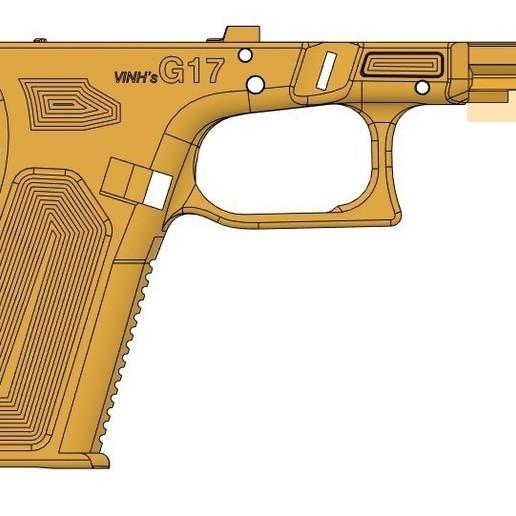 right side VG17.jpg Télécharger fichier STL gratuit Glock 17 g17 • Design à imprimer en 3D, idy26