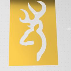 Capture.PNG Télécharger fichier STL gratuit pochoir logo cerf • Design pour imprimante 3D, idy26