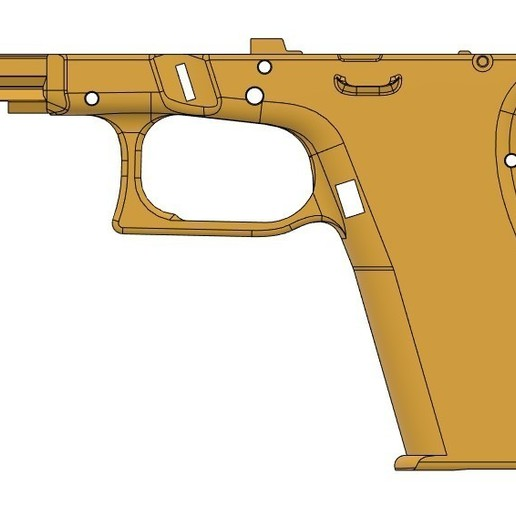 plain left side VG17.jpg Télécharger fichier STL gratuit Glock 17 g17 • Design à imprimer en 3D, idy26