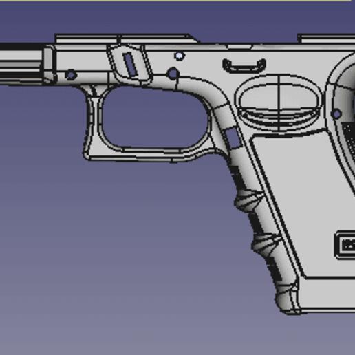 render2.png Télécharger fichier STL gratuit Glock 17 g17 • Design à imprimer en 3D, idy26