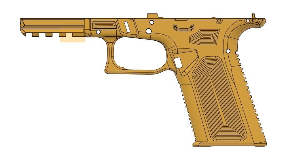 left side VG17.jpg Télécharger fichier STL gratuit Glock 17 g17 • Design à imprimer en 3D, idy26
