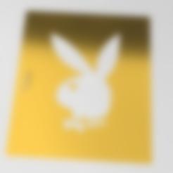 playboy stencil.stl Télécharger fichier STL gratuit pochoir playboy • Design pour impression 3D, idy26
