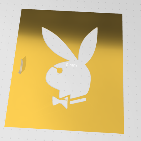 34.PNG Download free STL file playboy stencil • Template to 3D print, idy26