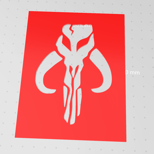 Télécharger objet 3D gratuit Pochoir de Mythosaure Mandalorien symbole du Mythosaure, idy26