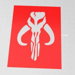 Download free 3D printer model Mandalorian Mythosaur symbol stencil , idy26
