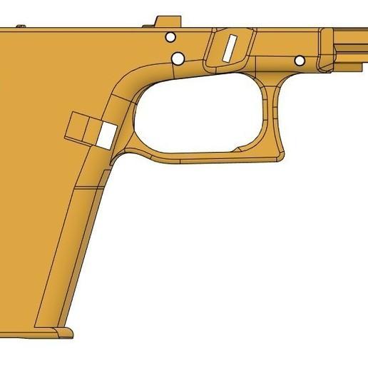 plain right side VG17.jpg Télécharger fichier STL gratuit Glock 17 g17 • Design à imprimer en 3D, idy26