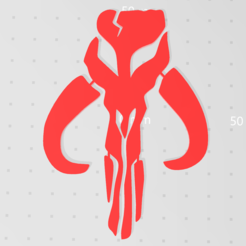Download free 3D model Mandalorian Mythosaur symbol , idy26