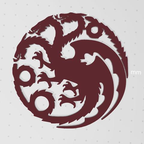 Télécharger modèle 3D gratuit Jeu du Dragon du Trône (mère des dragons), idy26