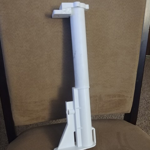 Free 3d printer files tube with stock attachment (AP9) , idy26