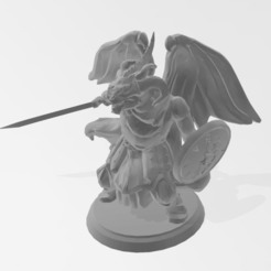 Download 3D printer model Dragonborn, winged, combat ready (DND), idy26