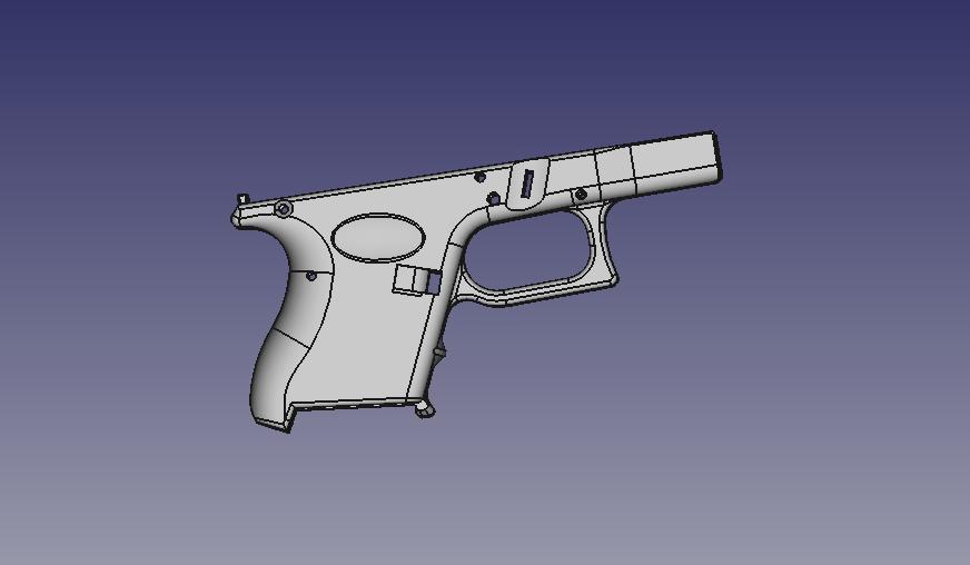render1.jpeg Télécharger fichier STL gratuit Glock 26 g26 • Design à imprimer en 3D, idy26