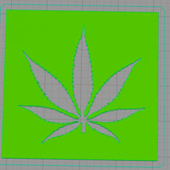Free 3D printer designs Weed stencil, idy26