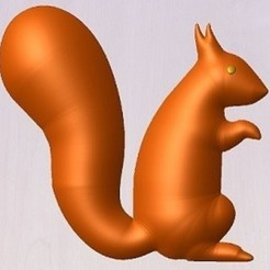 Free 3D printer designs squirrel, robinwood87000