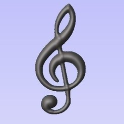 Free 3D model Treble clef, robinwood87000
