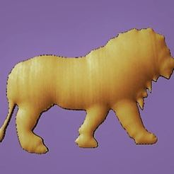 Capture.JPG Download free STL file lion • Template to 3D print, robinwood87cnc