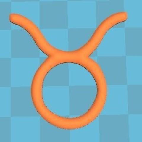 insert avant.JPG Download free STL file zodiac sign Taurus • 3D print object, robinwood87cnc